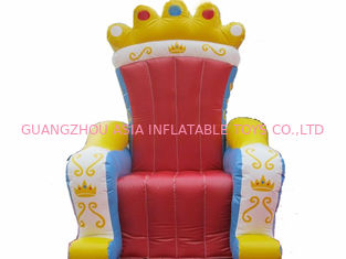 Chiny Chinese Supplier Advertising Inflatable King Chair Sofa For Chair Furniture Exhibition fabryka