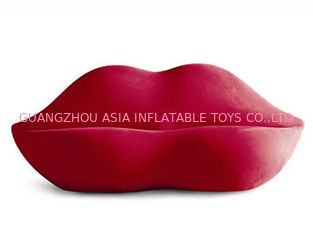 Chiny New Lip Shaped Design Inflatable Pink Couch Sofa With Two Seats For Relax fabryka