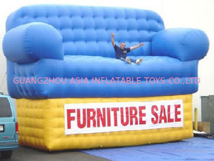 Chiny Blue Advertising Inflatables Couch Sofa Manufacturer With Wholesale Price fabryka