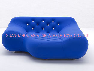 Chiny Eco-Friendly Pvc Airtight Advertising Inflatables Air Sofa Chair In Dark Blue Color fabryka