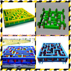 Chiny Inflatable Labyrinth, Ourdoor Inflatable Maze Games For Business Promotion fabryka