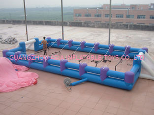 Chiny Safe Giant Soccer Field Inflatable Football Playground Indoor / Inflatable Soccer Field fabryka