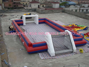 Chiny China Supplier Inflatable Sports Football Pitch Without Floor Sheet , Inflatable Soccer Field fabryka