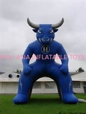Chiny Inflatable Blue Bull Entrance, Inflatable Tunnel For Sports Event fabryka