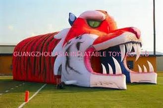 Chiny Giant Inflatable Tiger Tunnel, Infaltable Tunnel For Outdoor Advertising fabryka