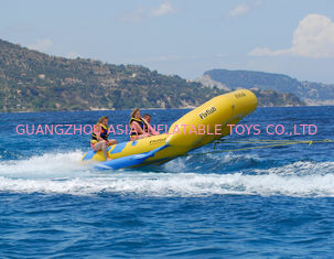 Yellow 0.9mm PVC tarpauli Inflatable Flying Fish Boat With Handles