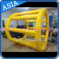 Chiny PVC Tarpaulin Inflatable Yellow Water Roller for Kids Pool Water Games fabryka