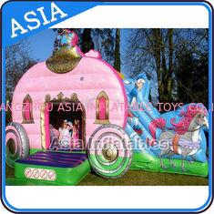 Chiny Inflatable Royal Carriage Moonwalk Bouncer For Children Party Hire Games fabryka