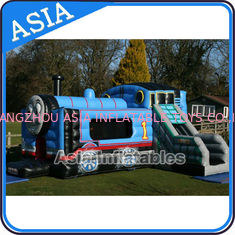 Chiny Inflatable Choo Choo Train Tunnel Moonwalk Games For Kids Party Sports fabryka