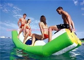 Chiny Green And White Single Water Totter Inflatable Water Sports For 4 People fabryka