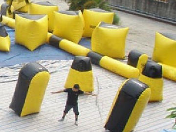 Chiny Inflatable paintball bunker blindage with durable vavles fabryka