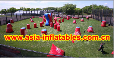 Chiny 0.6mm PVC Inflatable Paintball bunker for paintball Sports fabryka