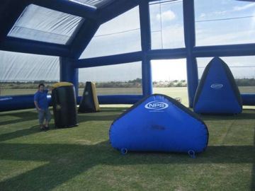 Chiny Water Proof Inflatable Paintball Arena ARENA07 with Durable Anchor Rings fabryka
