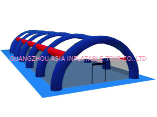 Chiny 0.9mm PVC Tarpaulin Inflatable Paintball Arena ARENA08 fabryka
