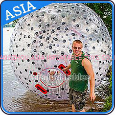 Water Games Used Pvc Inflatable Zorb With Color Dots For Children
