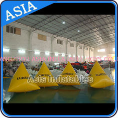 Chiny Inflatable Swim Buoys , Triangular Shape Marker Floating For Advertising fabryka