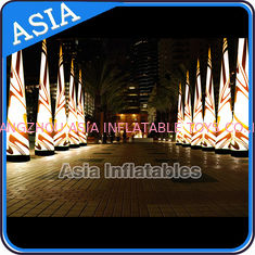 Chiny Inflatable Lighting Cone , LED Light Advertising Arch , Lighting Christmas Cone fabryka