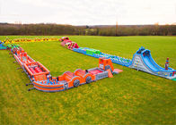 Race Wipeout Course Inflatable Tunnel , Rental 5k Inflatable Obstacle Course dostawca