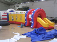 Inflatable Train Tunnel , Inflatable Chidlren Park Amusement Games dostawca