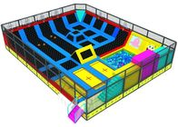 Childrens Bounce Trampoline Park With Ninja Warrior Course And Climbing Wall