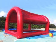 Red Colour UV Protected Kids Inflatable Pool with Tent for Sports Games dostawca