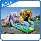 Outdoor Inflatable Horse Carriage Jumping Castle with Slide For Children dostawca