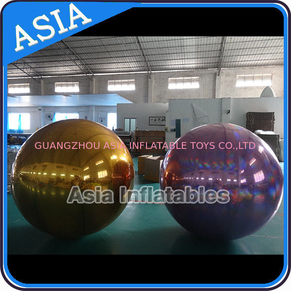 Custom Made Inflatable Purple Mirror Balloon For Advertising Decoration dostawca