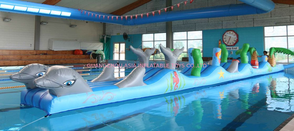 Inflatable Sports For Swimming Pool, Aqua Obstacle Course For Sale dostawca