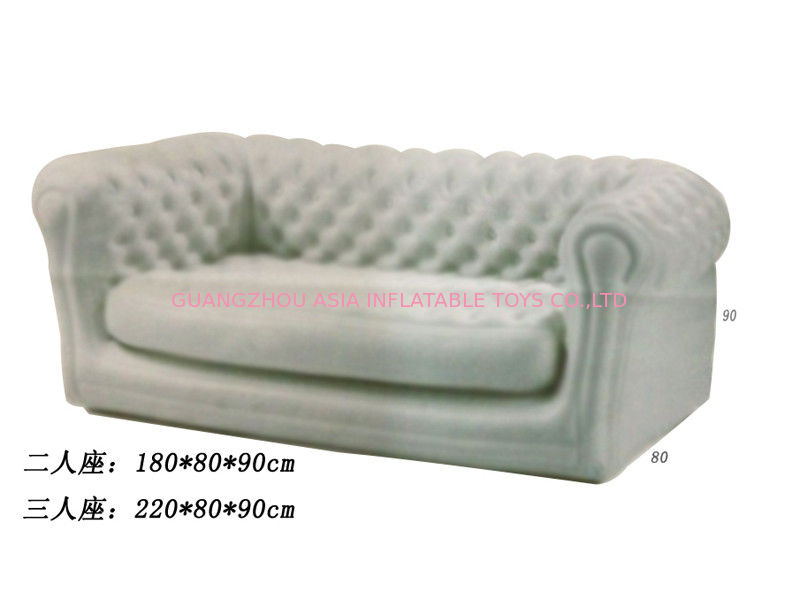 2 Seater Or 3 Seater  Gray Inflatable Sofa For Kids , Custom Inflatable Couches dostawca