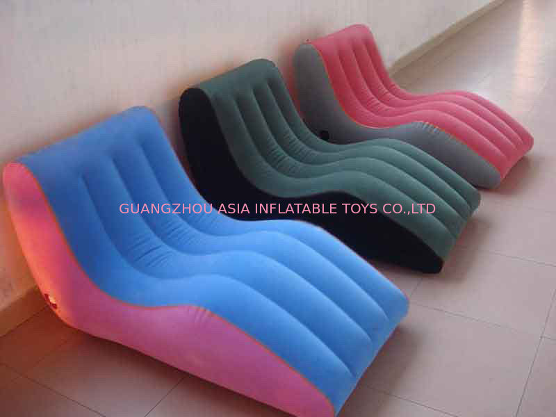 Modern Portable Inflatable Chesterfield Sofa , Inflatable Colorful Furniture dostawca