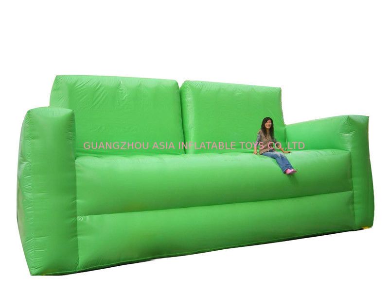 Soft Green Inflatable Chair Sofa For Homes Use , Portable Inflatable Sofa Chair dostawca