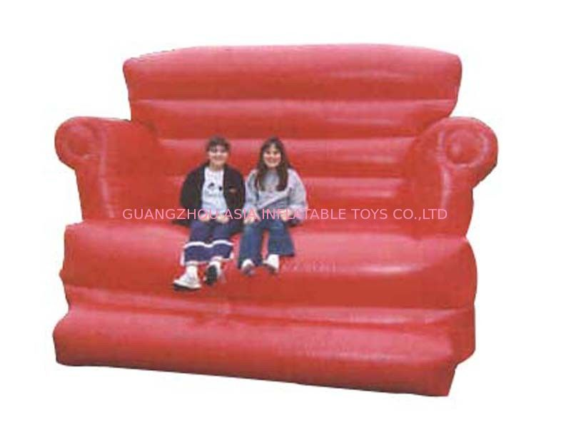 Large Red Design Advertising Inflatable Sofa Furniture , Inflatable Couch Furniture dostawca