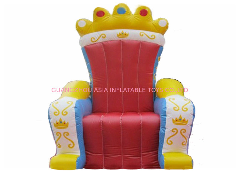 Hot Selling Replicas Inflatable Advertising King Sofa , Inflatable King Chair