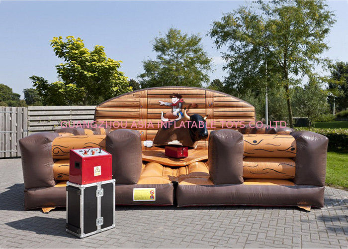 Inflatable Riding Mechanical Bull Rodeo Ride , Inflatable Mechanical Bull Mattress dostawca