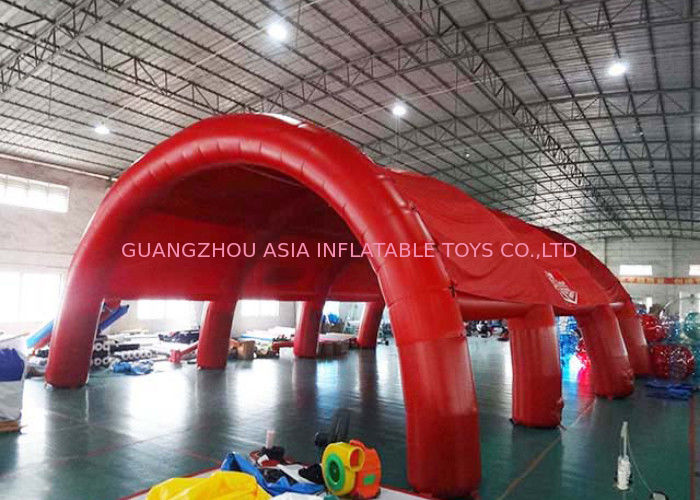 Durable Huge Inflatable Arch Tents , Nylon Fabric Outdoor Dome Tent