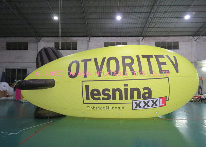 Advertising Inflatable Lighting Blimps Airship , Inflatable LED Flying  Zeppelin dostawca