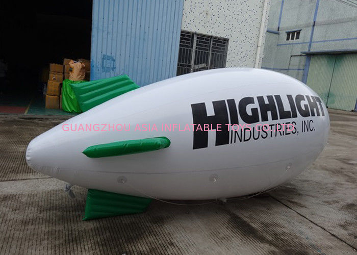 Inflatable White Blimps Airship Zeppelin With Custom Logo Print, Helium Balloon dostawca
