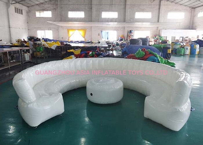 12ft Diameter Round Shape Inflatable Sofa For Meeting With White Color