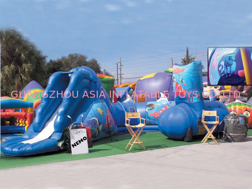 Hot Sale Inflatable Amusement Park, Inflatable Yellow Train Tunnel dostawca