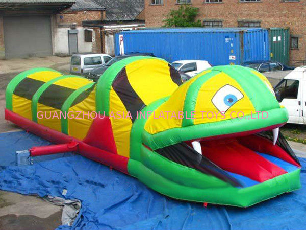 Inflatable Tunnel Maze , Snake Train Tunnel For School Amusement Equipment dostawca