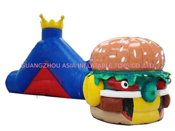 Hot Sale Inflatable Tunnel Maze Games In Hamburger Shape For Kids dostawca
