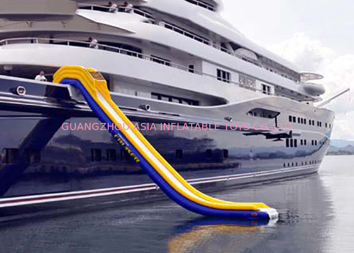 Inflatable Water Floating Games , Inflatable Slide For Yacht Sports dostawca
