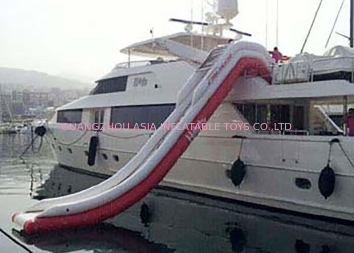Giant Inflatable Water Slide , Inflatable Water Amusement Equipment, Yacht Slide dostawca