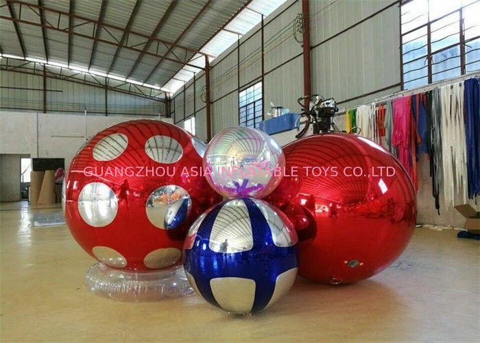 Stage Customized Advertising Fireproof Inflatable Mirror Ball For Christmas Decoration