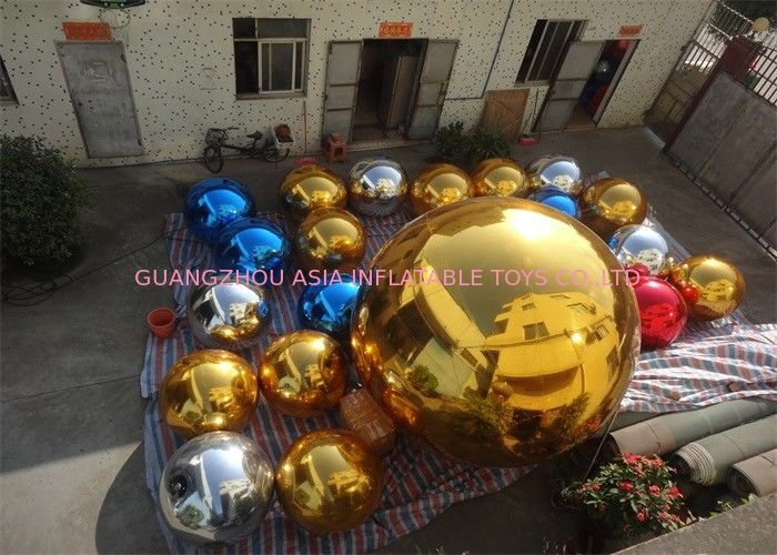 Inflatable Colorful Mirror Balloon Event Use Inflatable Ground Mirror Ball dostawca