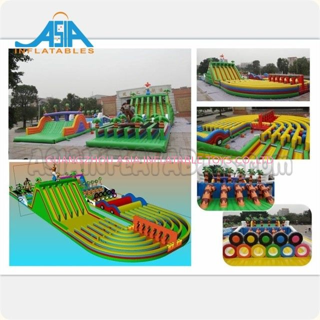 Wodoodporny dmuchany park rozrywki / Giant Inflatable Obstacle Course dostawca