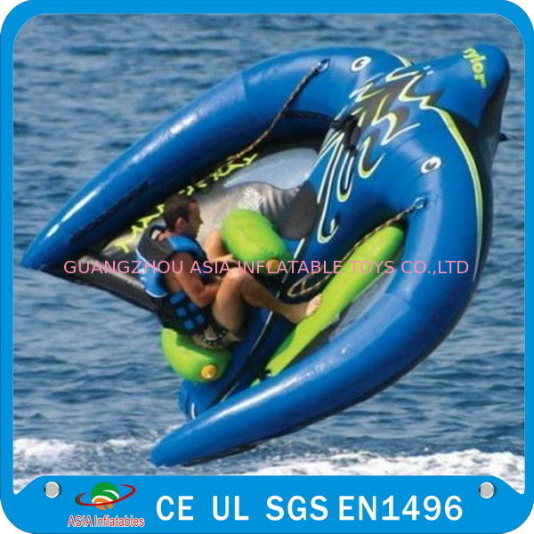 Towable Inflatable Manta Ray Fish Boat, Inflatable Water Park Games dostawca