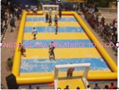 Children Inflatable Soccer Field / Inflatable Football Pitch For Coaching