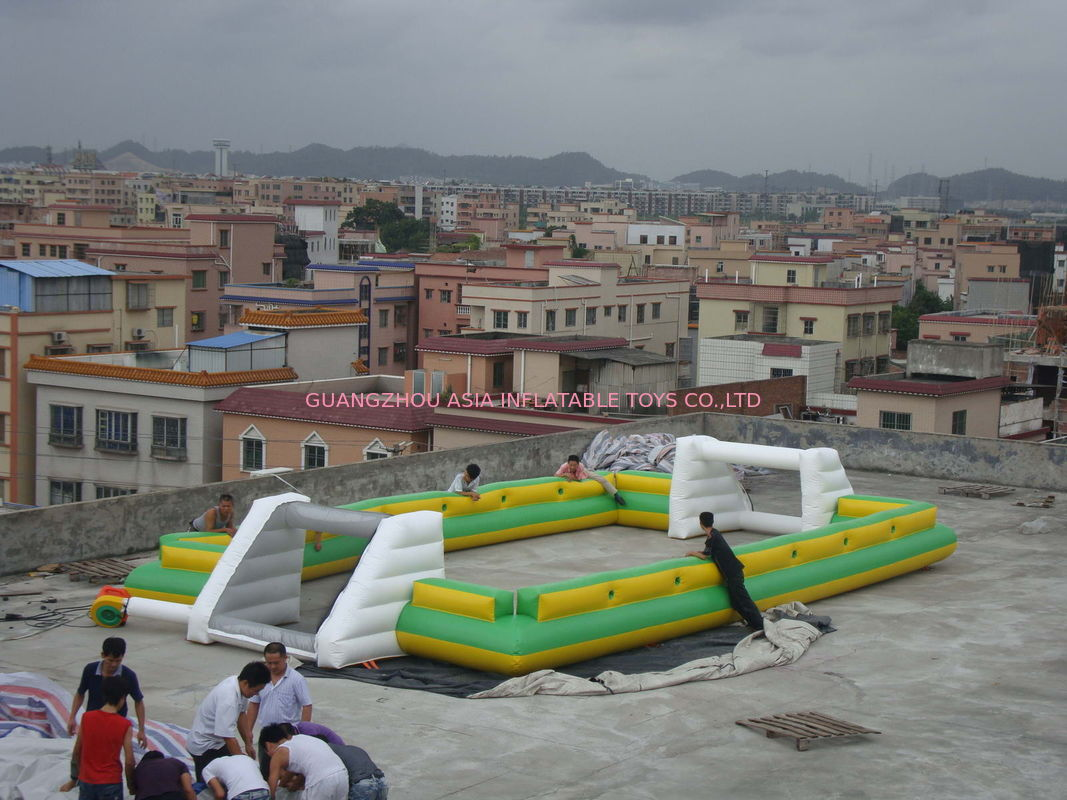 Newest And Hottest Inflatable Football Sport Field For Rental , Inflatable Soccer Field dostawca