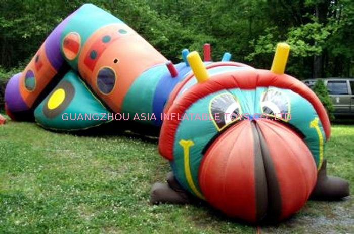 Inflatable bugsy the caterpillar tunnel maze for children games